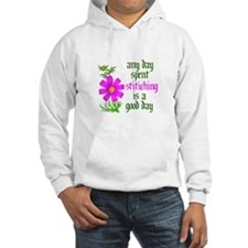 Any Day Spent Stitching - Goo Hoodie