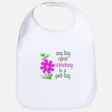 Any Day Spent Stitching - Goo Bib