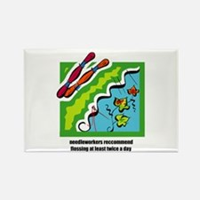 Needleworkers Embroidery Flos Rectangle Magnet