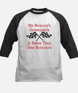 Mommys Snowmobile Is Fast Kids Baseball Jersey