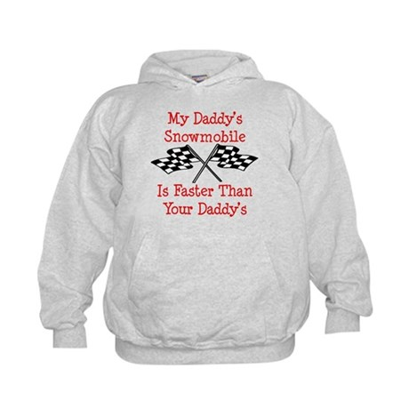Daddys Snowmobile Is Fast Kids Hoodie