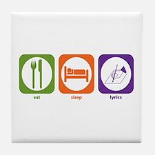 Eat Sleep Lyrics Tile Coaster