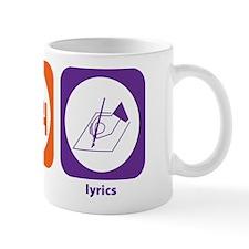 Eat Sleep Lyrics Mug