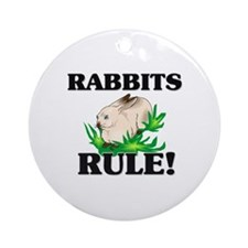 Rabbits Rule! Ornament (Round)