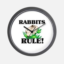 Rabbits Rule! Wall Clock