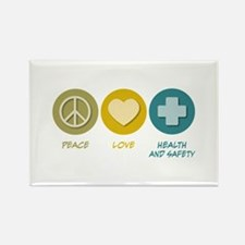 Peace Love Health and Safety Rectangle Magnet