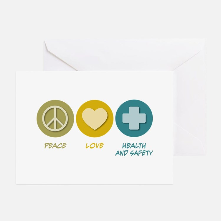 Peace Love Health and Safety Greeting Cards (Pk of