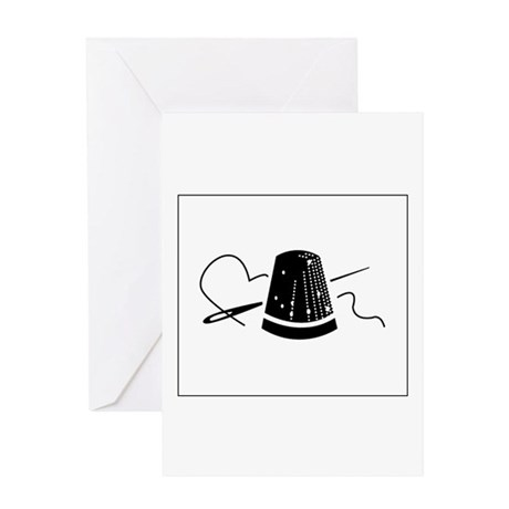 Needle, Thread and Thimble Greeting Card