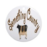 Something Country Cow Keepsake (Round)