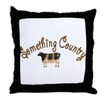 Something Country Cow Throw Pillow