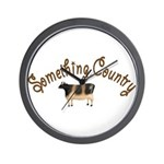 Something Country Cow Wall Clock