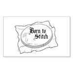 Embroidery Hoop - Born to Sti Rectangle Sticker 1