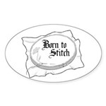 Embroidery Hoop - Born to Sti Oval Sticker (50 pk)