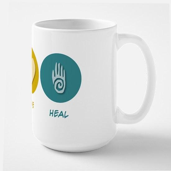 Peace Love Heal Large Mug