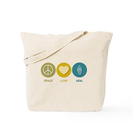 Peace Love Heal Tote Bag