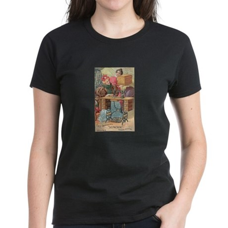 Vintage Sewing Machine Ad Women's Dark T-Shirt