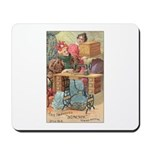 Vintage Sewing Machine Ad Mousepad