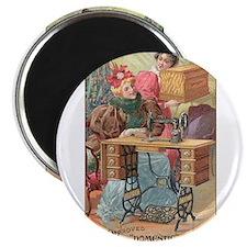 Vintage Sewing Machine Ad Magnet