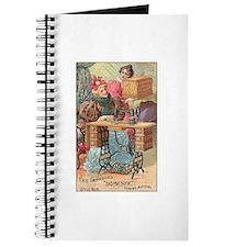 Vintage Sewing Machine Ad Journal
