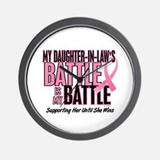My Battle Too 1 (Daughter-In-Law BC) Wall Clock