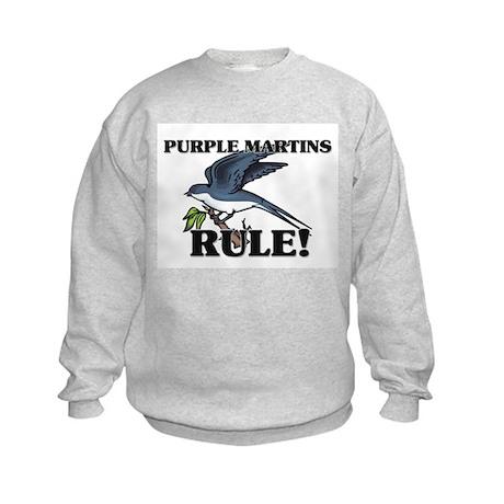 Purple Martins Rule! Kids Sweatshirt