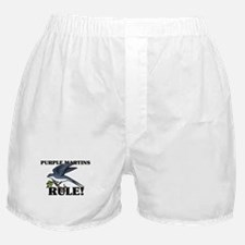 Purple Martins Rule! Boxer Shorts