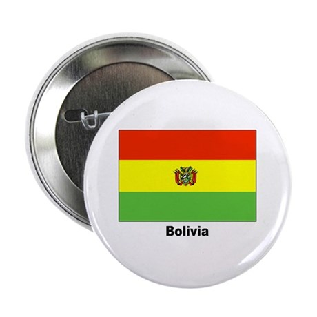 Bolivia Bolivian Flag Button