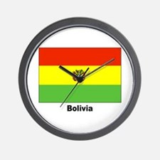 Bolivia Bolivian Flag Wall Clock