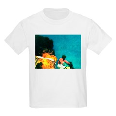 Crazy Flame Motorcycle Man on T-Shirt