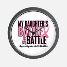 My Battle Too 1 (Daughter BC) Wall Clock