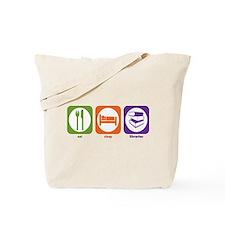 Eat Sleep Libraries Tote Bag