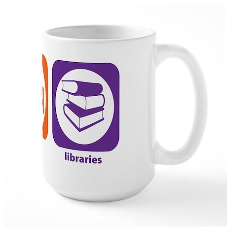 Eat Sleep Libraries Large Mug
