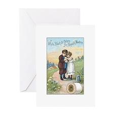 Children - Vintage Thread Ad Greeting Card