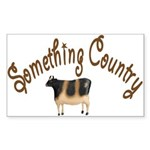 Something Country Cow Rectangle Sticker