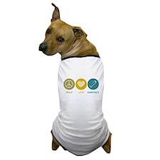 Peace Love Harmonica Dog T-Shirt