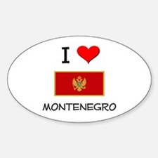 I Love Montenegro Oval Decal