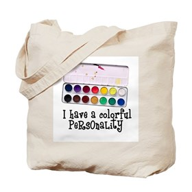 Artist Paints - Colorful Pers Tote Bag