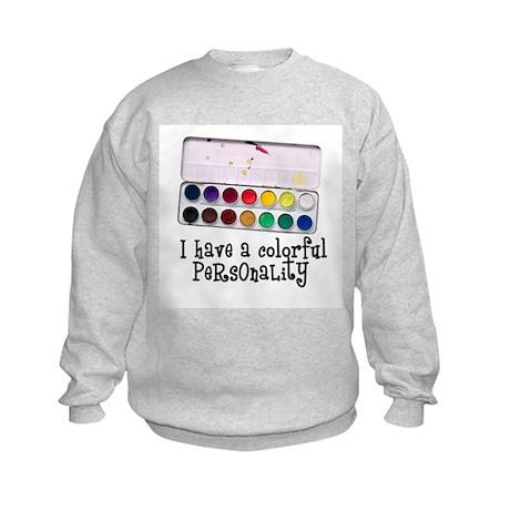 Artist Paints - Colorful Pers Kids Sweatshirt