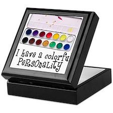 Artist Paints - Colorful Pers Keepsake Box