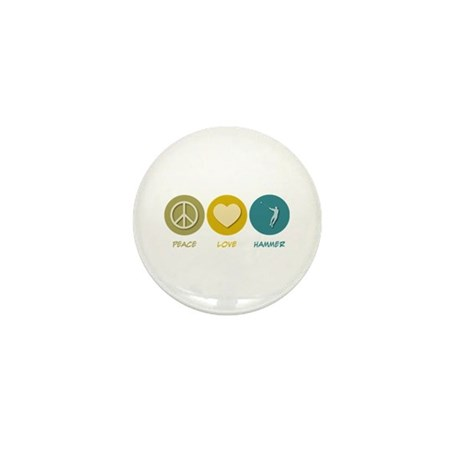 Peace Love Hammer Mini Button (100 pack)