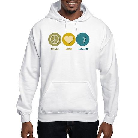 Peace Love Hammer Hooded Sweatshirt