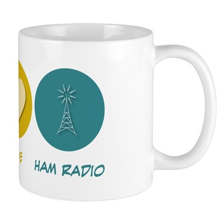 Peace Love Ham Radio Mug