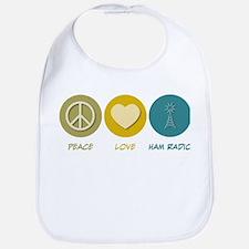 Peace Love Ham Radio Bib