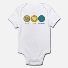 Peace Love Ham Radio Infant Bodysuit