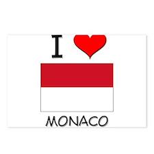 I Love Monaco Postcards (Package of 8)