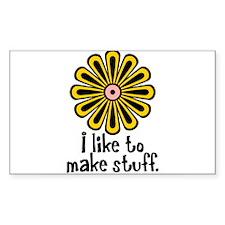 I Like to Make Stuff Rectangle Sticker 10 pk)