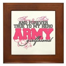 Strong&Sweet Army Girlfriend Framed Tile