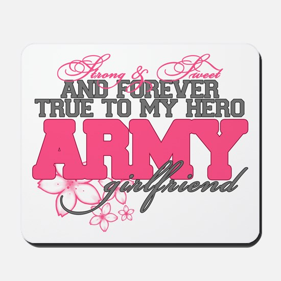 Strong&Sweet Army Girlfriend Mousepad