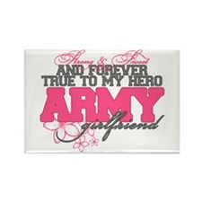 Strong&Sweet Army Girlfriend Rectangle Magnet
