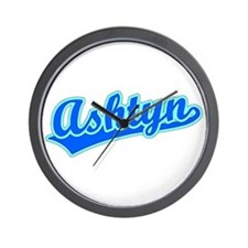 Retro Ashtyn (Blue) Wall Clock